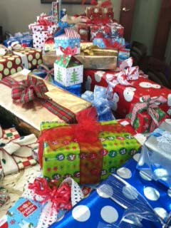 West Bend First Weber Christmas fundraiser and gift giving