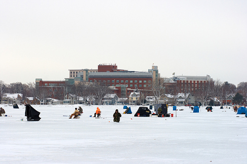Ice fishing home expo polar bear plunge this weekend for Ice fishing expo