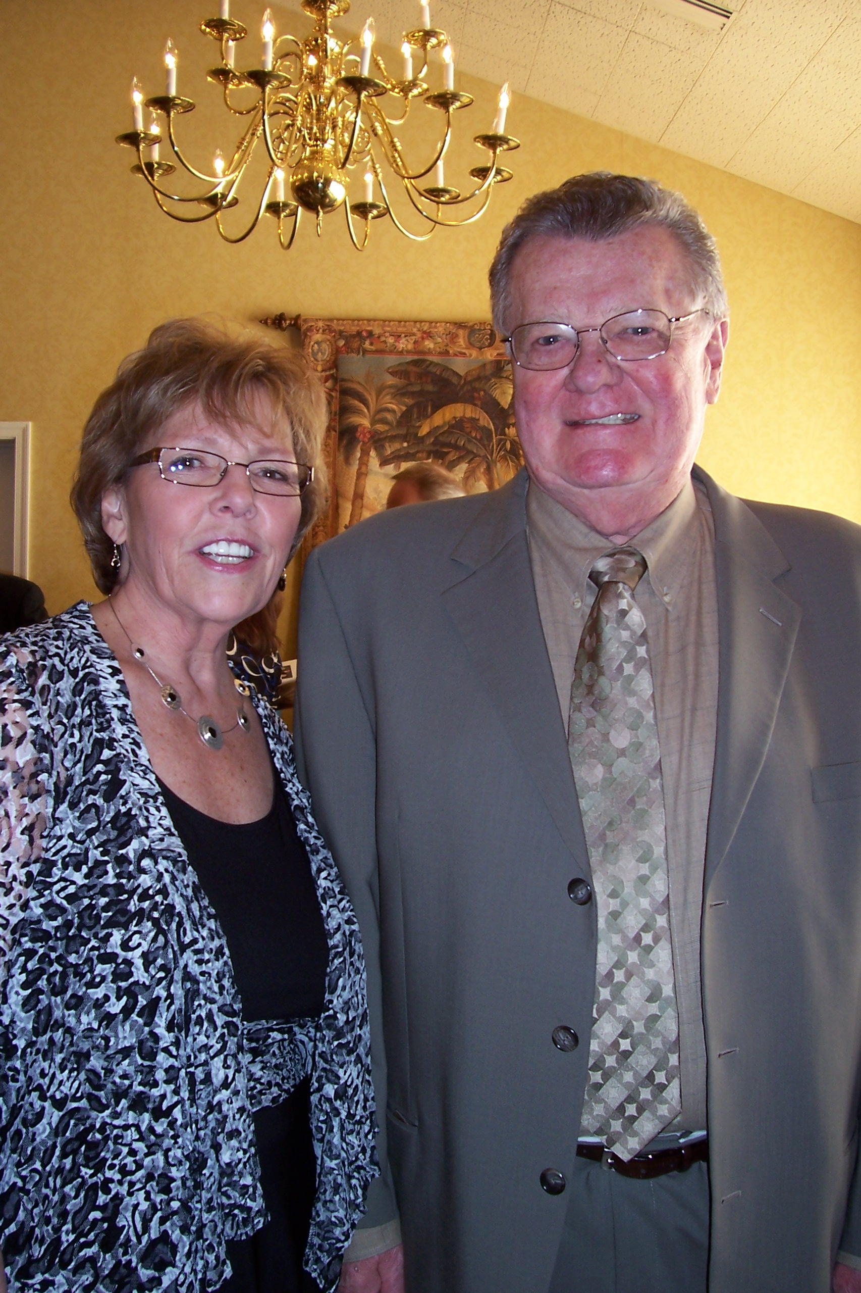Vice President of Administration Ilene Davis pictured with Chuck Rushman,  Chairman and CEO.
