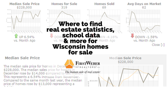 Where to find real estate statistics, points of interest & school data for Wisconsin homes for sale