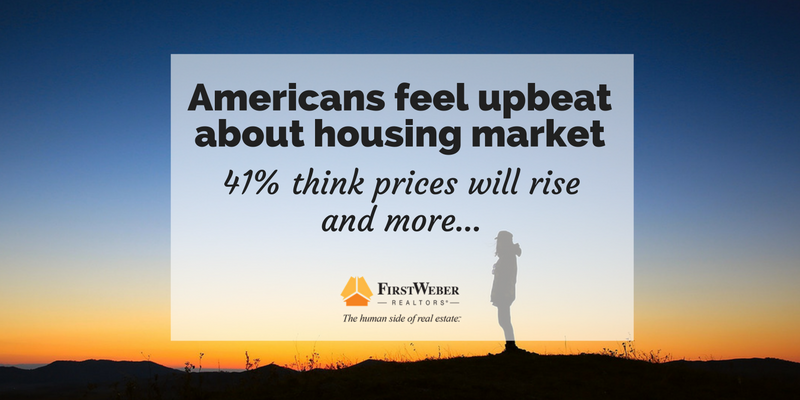 Americans feel upbeat about housing market