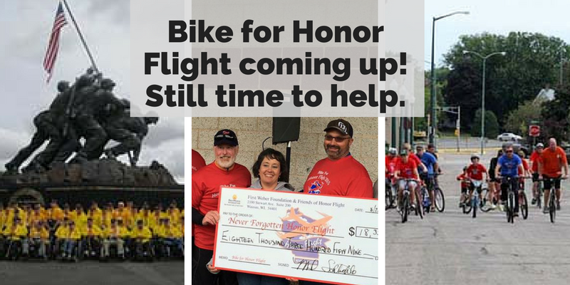 Bike for Honor Flight coming up! Still time to help.1 (1)