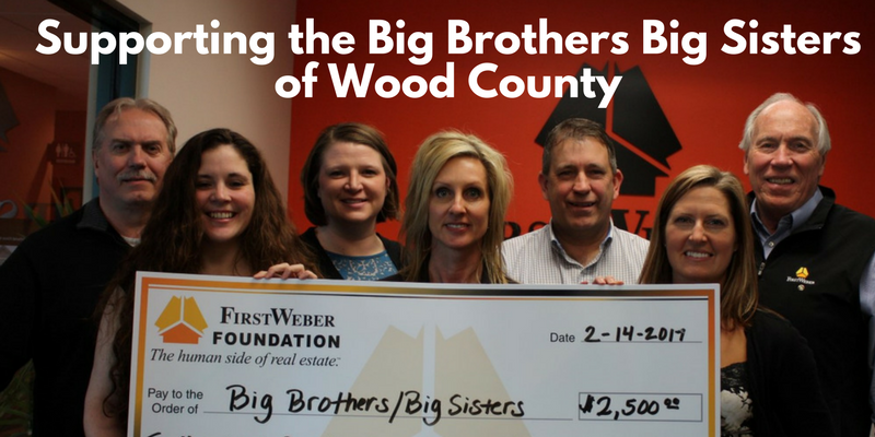 First Weber Marshfield & Foundation support local Big Brothers Big Sisters of Wood County