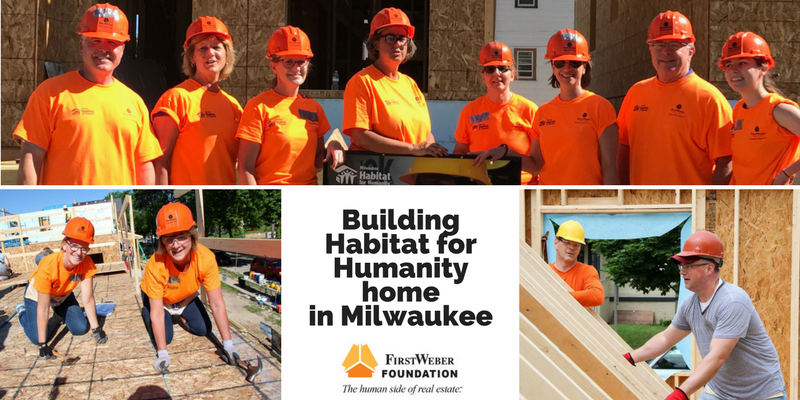 Helping to build a Habitat for Humanity home in Milwaukee