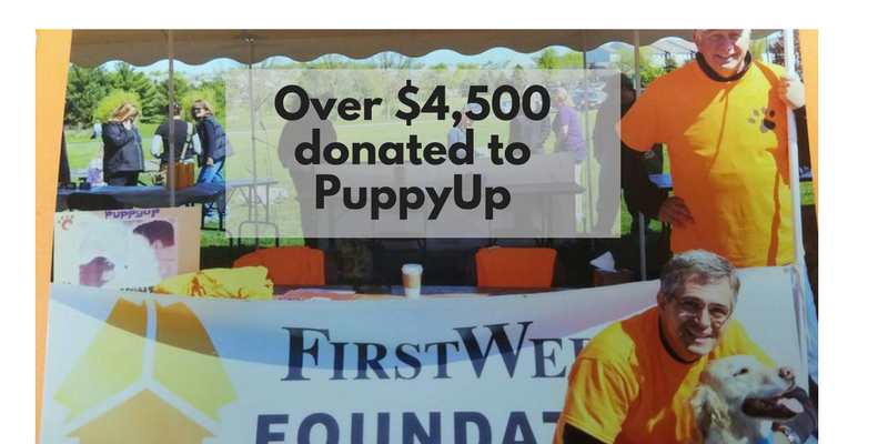 Over $4,500 donated to PuppyUp