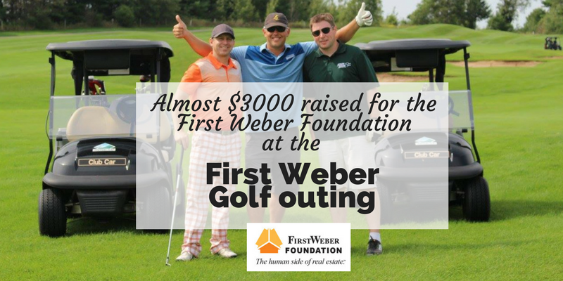 Almost $3,000 raised for the First Weber Foundation at our recent golf outing in Sussex!
