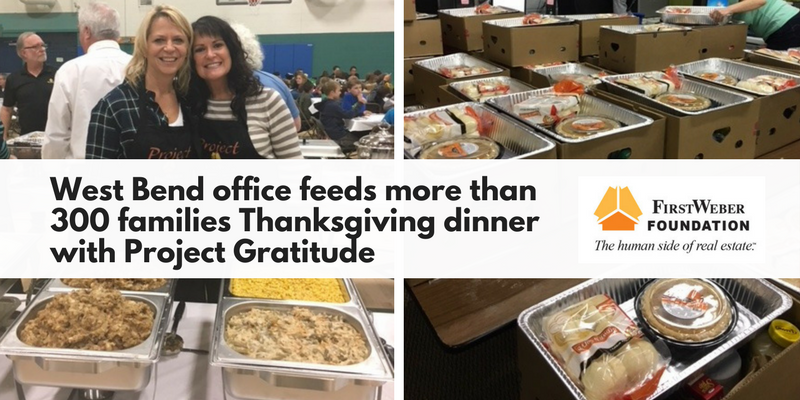 West Bend office & Foundation feeds more than 300 families at Thanksgiving with annual Project Gratitude