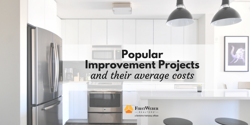 25 home improvement ideas and their average cost