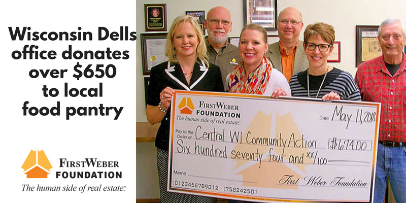 The Human Side of Real Estate in action: Wisconsin Dells office & Foundation donate to local food pantry