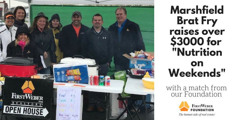 First Weber Marshfield office/First Weber Foundation raise over $3000 to provide weekend bag lunches for kids