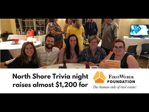 North Shore office raises  almost $1,200 for First Weber Foundation with Trivia Night. #FWGives