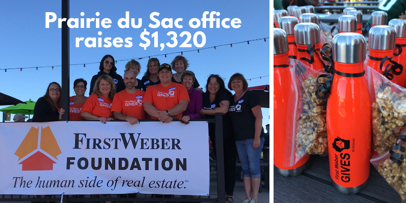 Prairie du Sac offices raises $1,320 for the Foundation with help from local businesses.  #FWGives
