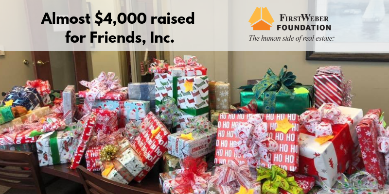 West Bend office & Foundation raise almost $4,000 for Friends, Inc. #FWGives