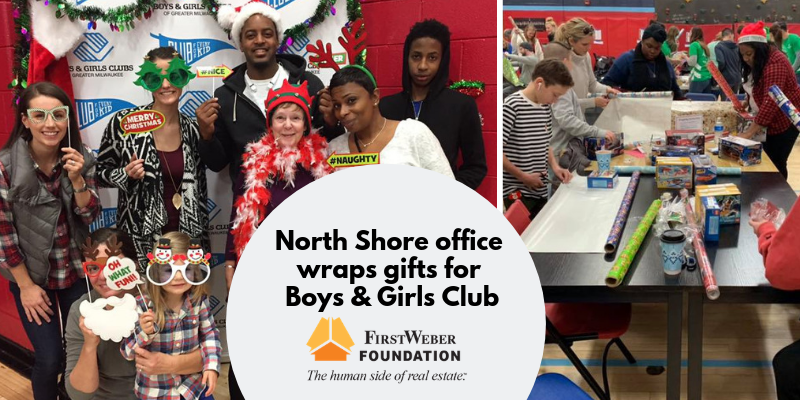 North Shore office wraps gifts for Boys & Girls Club. #FWGives